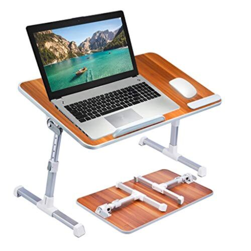 Outstanding Large Size Neetto Tb101L Adjustable Laptop Bed Table Portable Standing Desk Foldable Sofa Breakfast Tray Notebook Stand Reading Holder For Couch Theyellowbook Wood Chair Design Ideas Theyellowbookinfo