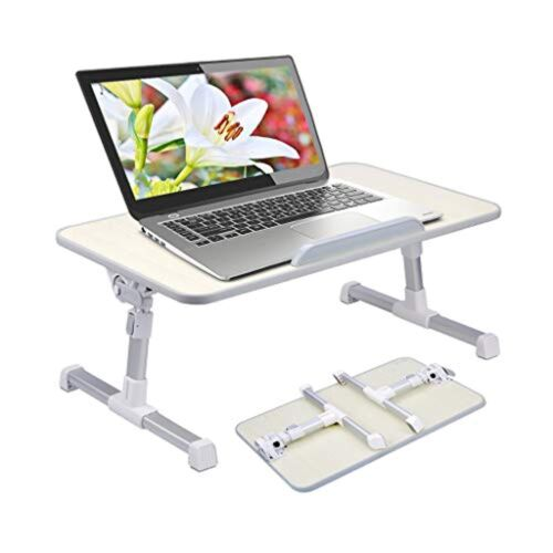 Prime New Version Portable Laptop Bed Table Foldable Breakfast Tray Notebook Computer Stand Lapdesk For Soft Surfaces Like Couch Recliner Sofa Evergreenethics Interior Chair Design Evergreenethicsorg