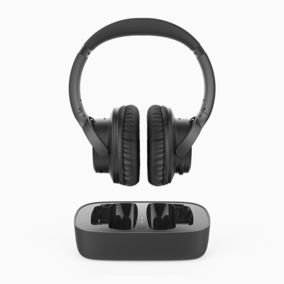 """JTECH /""""D/"""" Ring Style Headset with In-Line Push-to-Talk"""